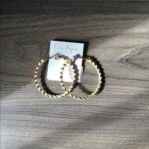 Jessica Simpson Yellow Hoop Earrings